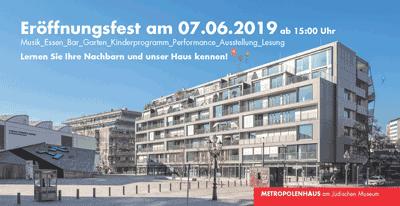 Einladung zum Eröffnungsfest 7. Juni 2019
