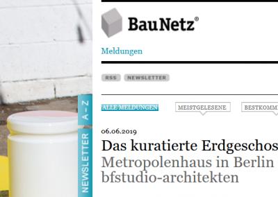Unser kuratiertes Erdgeschoss im BauNetz, 06.06.2019