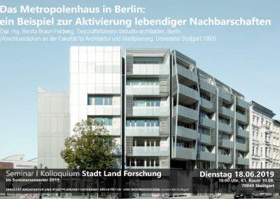 Gastvortrag Universität Stuttgart, Kolloquium_Stadt Land Forschung