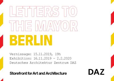"""Ausstellung """"Letters to the Mayor"""" Berlin — Ideen und Visionen der Stadt"""