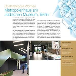 METROPOLENHAUS gewinnt FIABCI Prix d'Excellence Germany 2019, Gold Award/Wohnen
